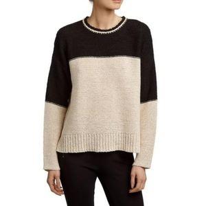 James Perse Colorblock Dolman Knit Sweater